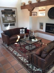 southwest leather couch sitting room